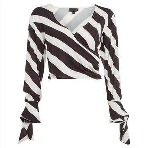 Brand New Topshop tie cuff shirt